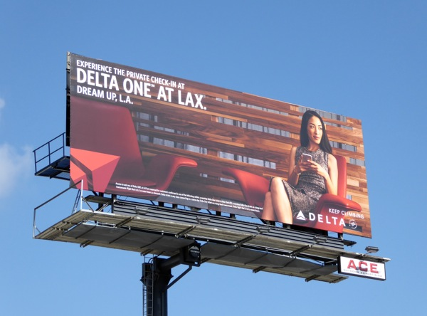 Delta One at LAX billboard