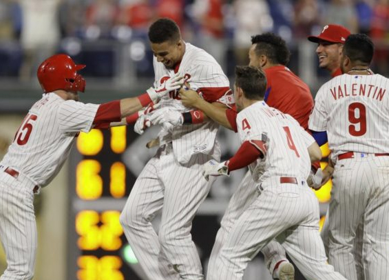 Aaron Altherr hit a game-winning double on Monday for the Phillies