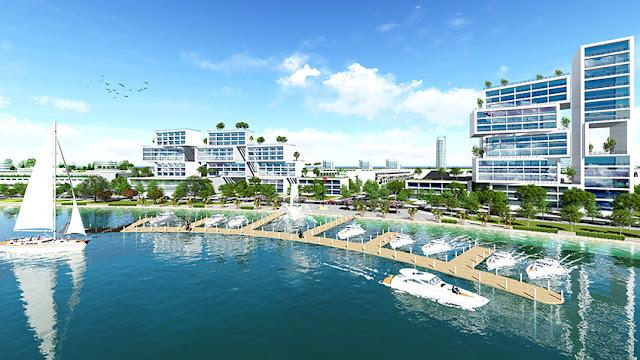 Phối cảnh bến du thuyền dự án Sea View (dự án Viêm Đông).