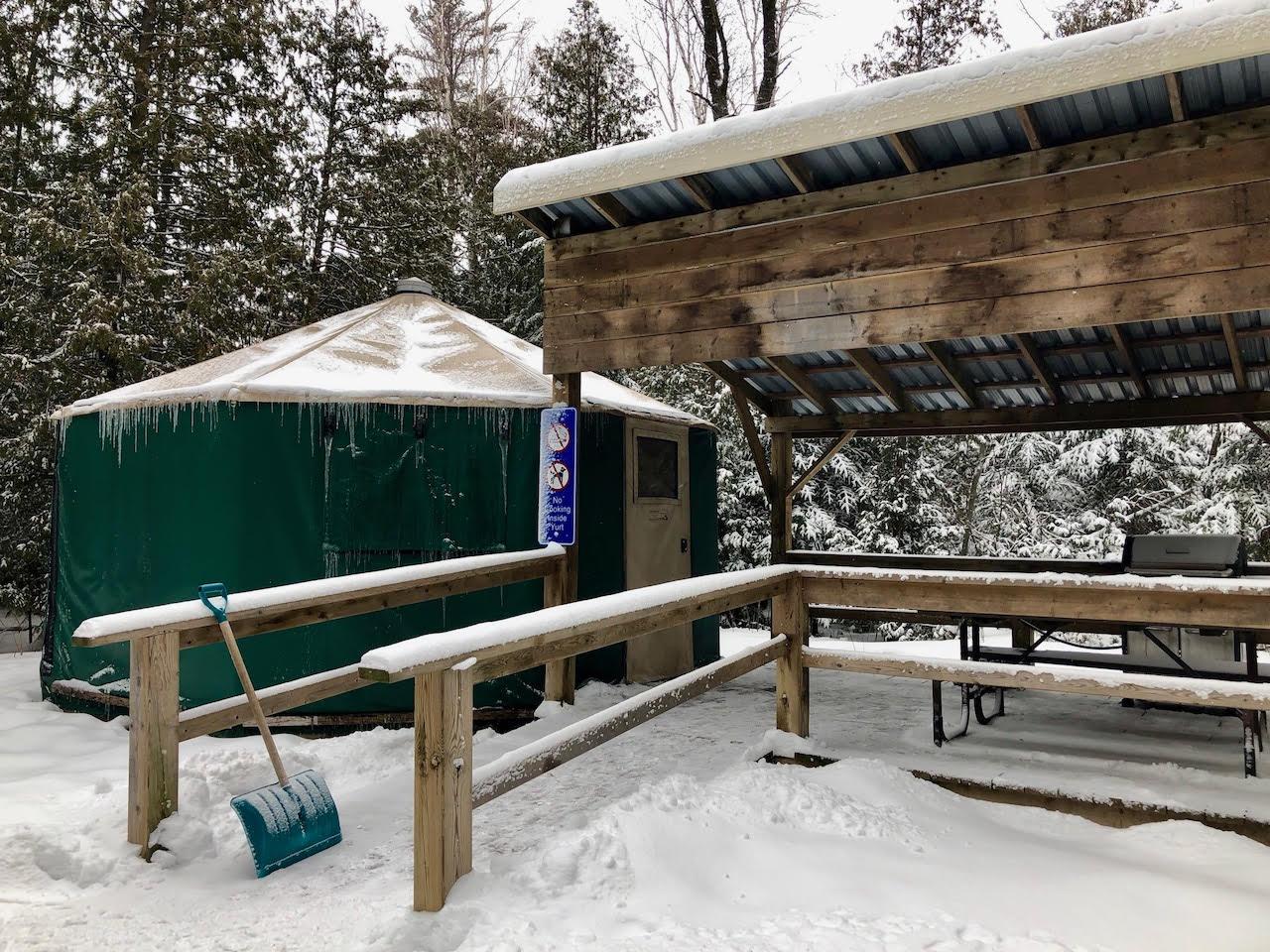 MacGregor Provincial Park winter camping