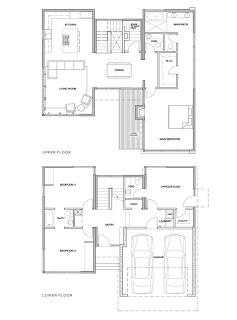 LEED Platinum sustainable prefab home floor plan