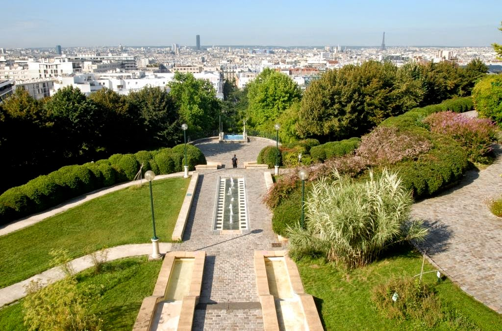 belleville panorama parc de belleville parijs, mooiste panorama over parijs