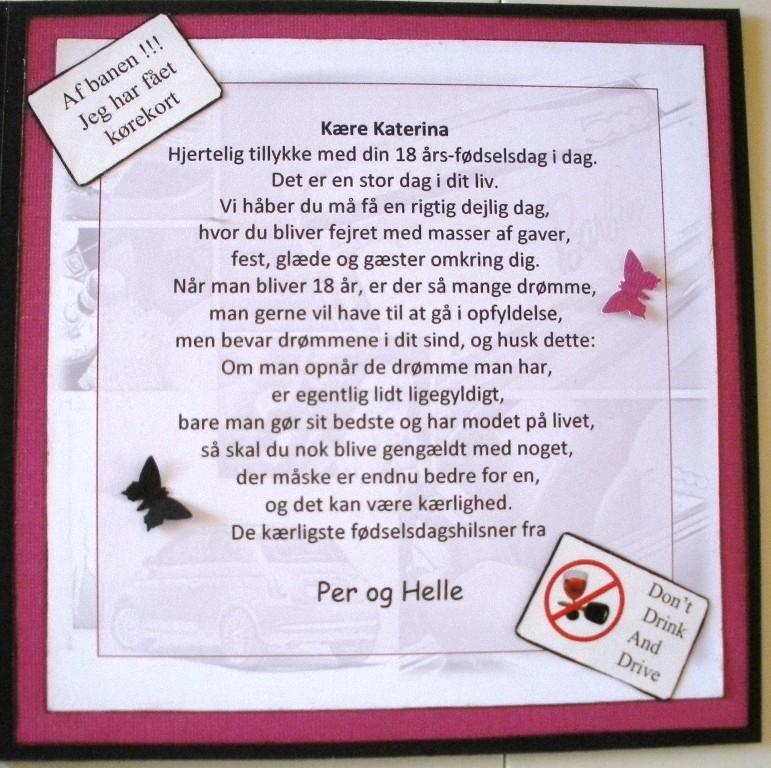 18 års kort Helles kort: 18 års fødselsdag 18 års kort