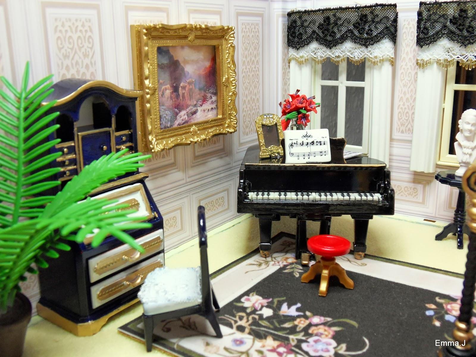 Blue mansion emma j 39 s playmobil for Playmobil dining room 5335