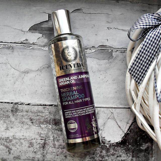 Szampon idealny | ICEVEDA | zwiększający gęstość włosów ziołowy szampon jałowiec grenlandzki & olej arganowy