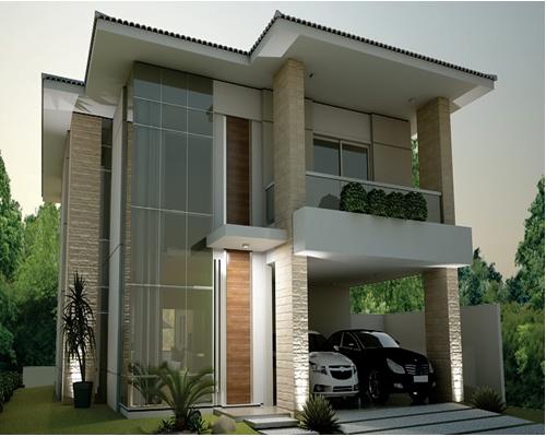 Se inspirando em fachadas duplex modernas blog fabiana for Casas duplex modernas