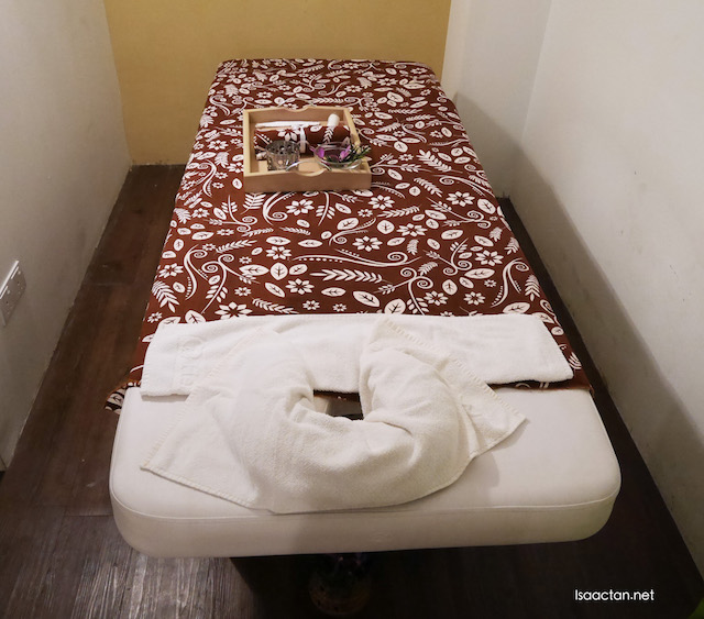 All ready for my Jade Stone Accupressure Body Massage @ HerbaLine Facial Spa, Sojourn Guest House