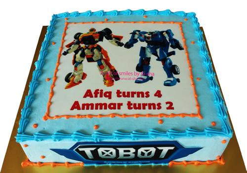 Tobot X & Y Birthday Cake