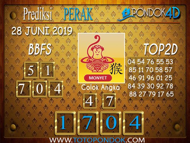 Prediksi Togel PERAK PONDOK4D 28 JUNI 2019