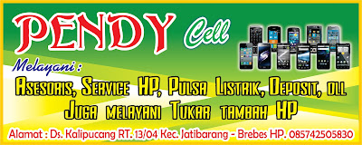 Banner Konter Pulsa Pendy Cellular CDR Vektor
