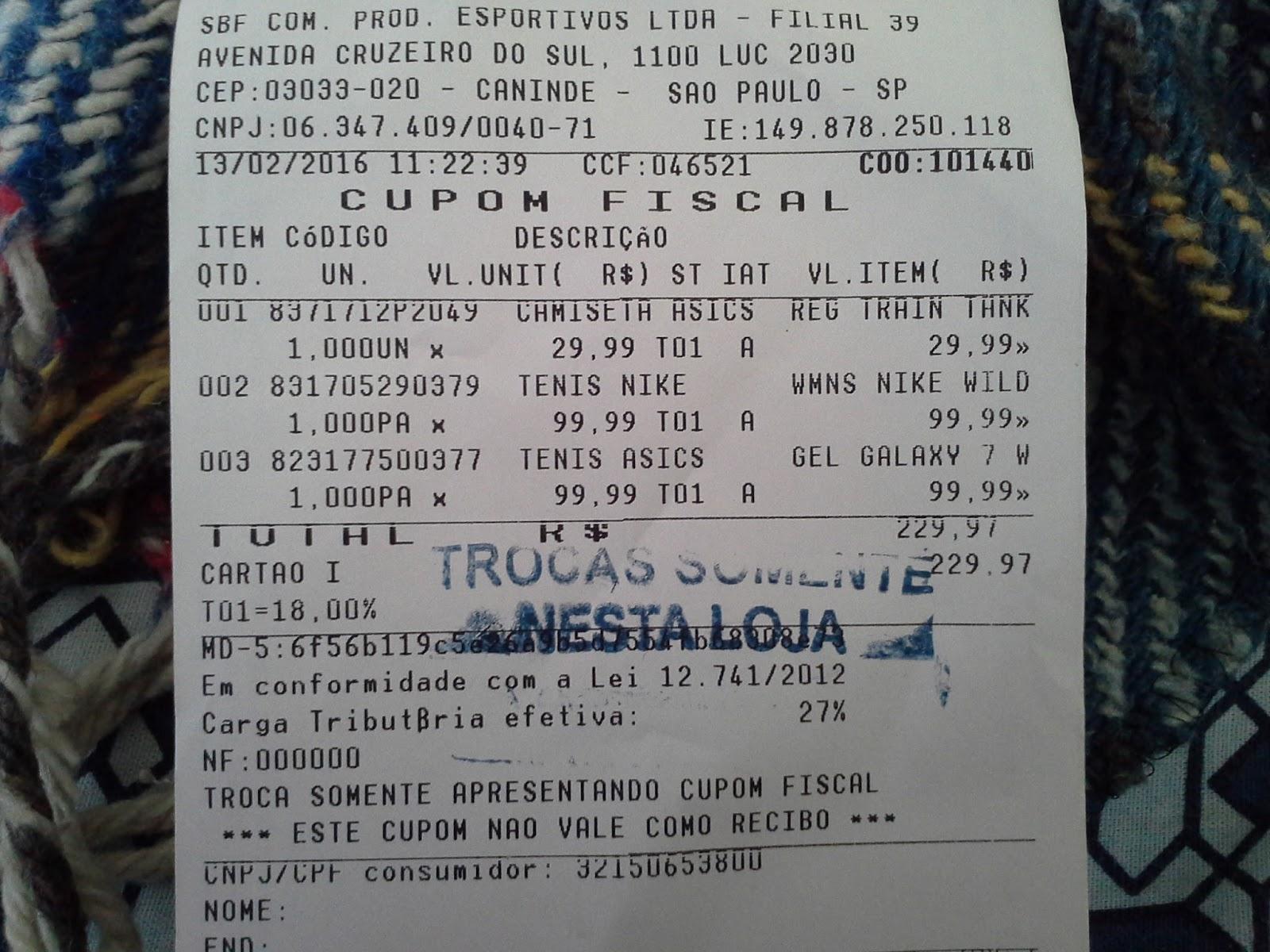 a690f6e4a0 Fui lá e ali  Compras no outlet da Centauro -Shopping D em São paulo