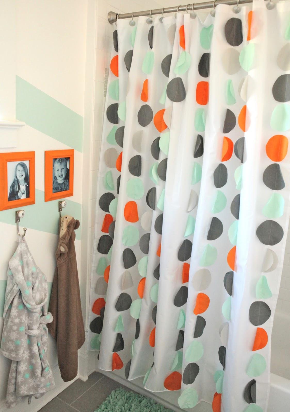 Land Of Nod Inspired Diy Shower Curtain Confetti Circles
