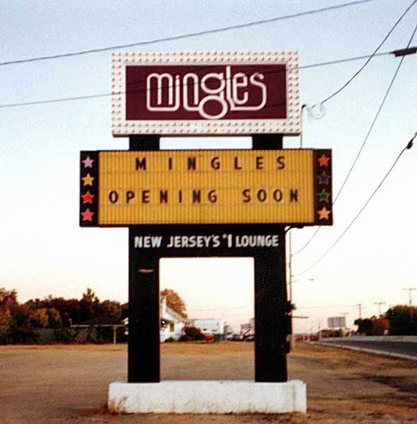 Mingles Lounge billboard Route 35 South Amboy/Sayreville, New Jersey