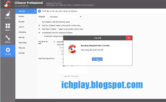 Tải CCleaner Professional Plus 5.43 Full Key mới nhất 2018 miễn phí d