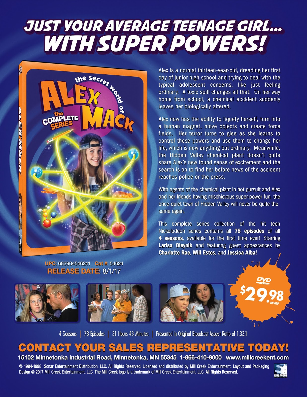 DVD & Blu Ray Release Report The Secret World of Alex Mack Leads