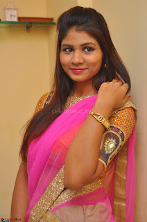 Lucky Sree in dasling Pink Saree and Orange Choli DSC 0339 1600x1063.JPG