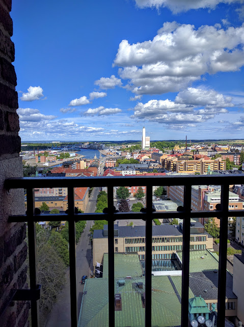 Views from the tower at Norrköpings Rådhus