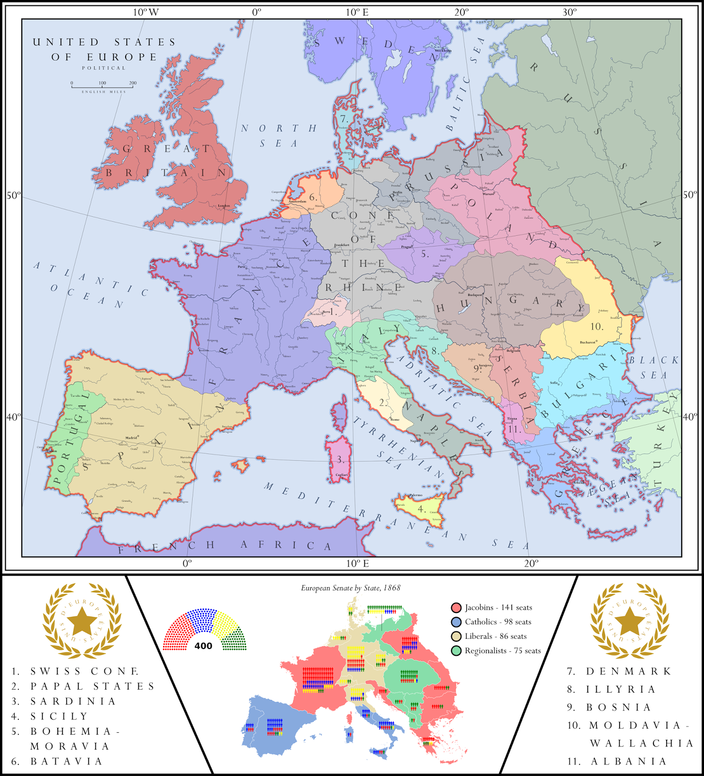Alternate History Weekly Update Map Monday United States Of Europe - Alternate-us-map