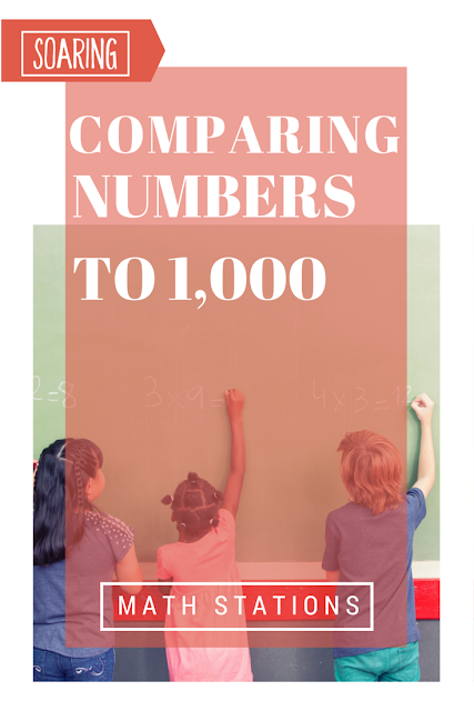 Centers for practicing comparing numbers to 1,000.