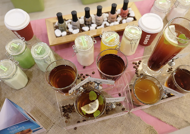 a photo of Orly The New Neutrals launch at KitcheNails with Costa Coffee