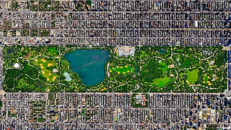 4. Central Park, New York City, New York, USA - 17 Breathtaking Satellite Photos That Will Change How You See Our World