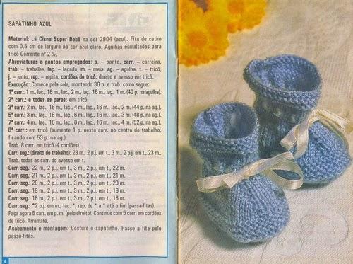 Receita sapatinho Azul para Bebê
