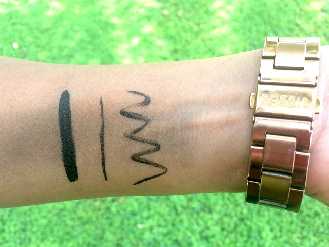 Smudged Swatch of the Bourjois Liner Feutre in Ultra Black