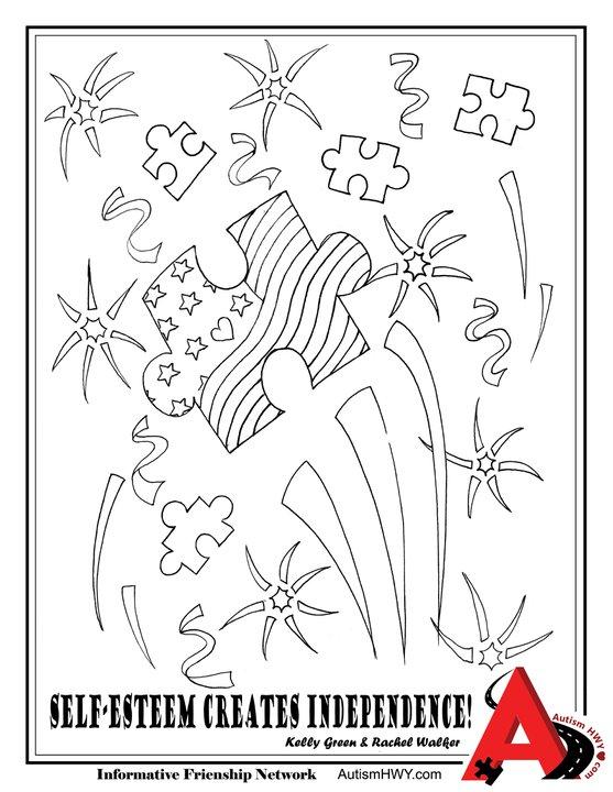 EnjoyHi5!Autism: AutismHWY Coloring Book