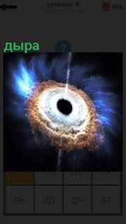 Черная дыра в космосе образовалась в середине вселенной
