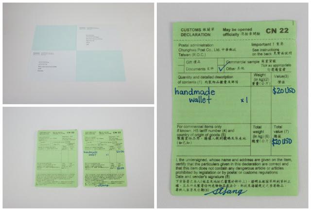(分享)從台灣寄 國際郵件/國際包裹寄送方式- 國際地址&填寫報關單