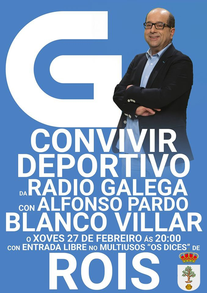 El jueves 27 de febrero, en Rois, disfrutaremos con Suso Blanco Villar y Alfonso Pardo