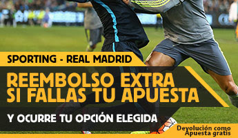 betfair reembolso 25 euros Liga bbva Sporting vs Real Madrid 23 agosto