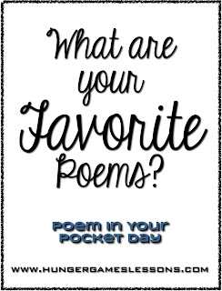What are your favorite poems? Sharing on Poem in Your Pocket Day