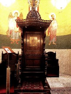 """Trono"" na Catedral Ortodoxa de São Paulo"