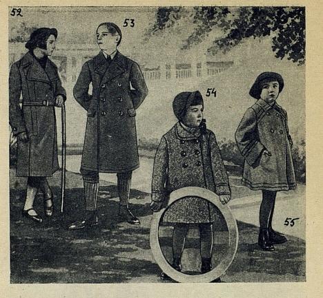 Дети в модной одежде 1937 года