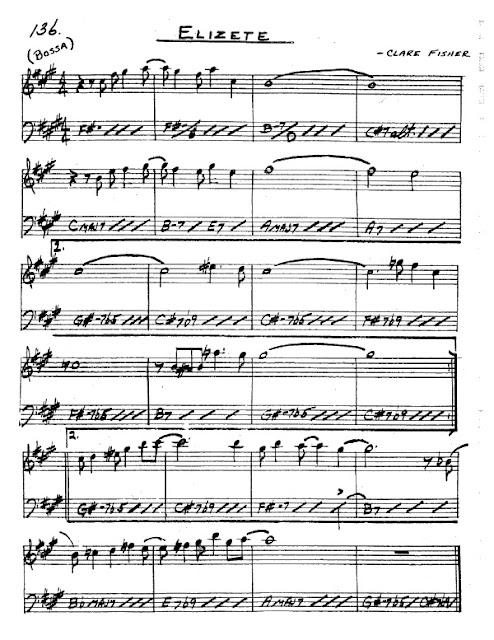 Partitura Saxofón Clare Fisher
