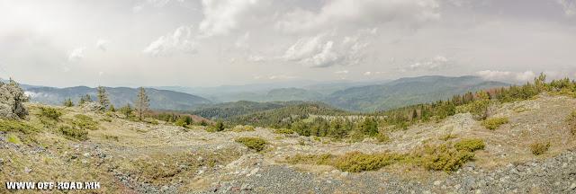 View from Macedonian / Greek border line toward Mariovo / Macedonia