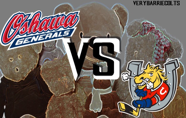 Game Preview: Barrie Colts VS Oshawa Generals on Sportsnet. (Teddy Bear Toss) #OHL