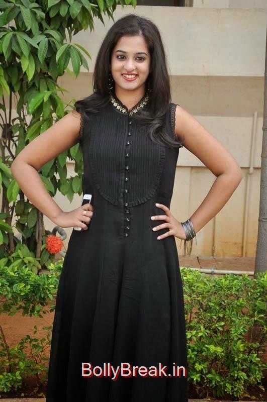Nanditha Photo Gallery, Nanditha Hot Pics In Black Dress from Movie Krishnamma Kalipindi Iddarini Shooting Spot
