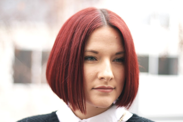hair ideas, red hair, bob hair cut,