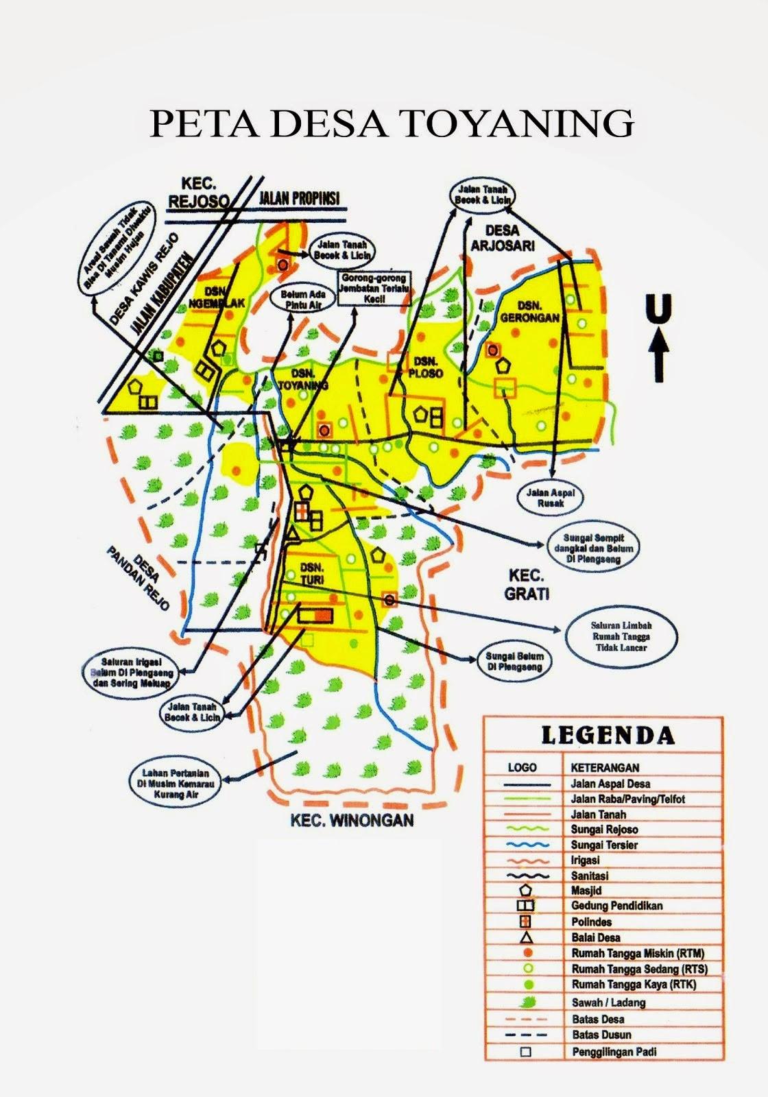 INDUSTRI KABUPATEN PASURUAN: Peta Kelurahan-kelurahan ...