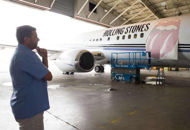 Amazing Aftermath Rolling Stones Private Jet Gets Upgrade At Pti Machost Co Dining Chair Design Ideas Machostcouk