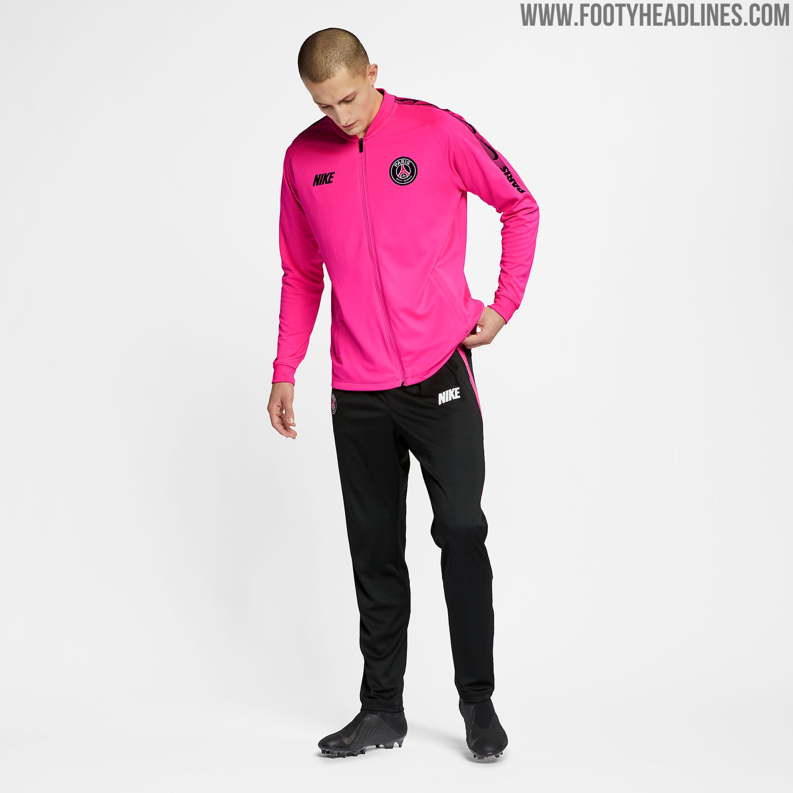 new nike style  pink psg 2019 training kit released