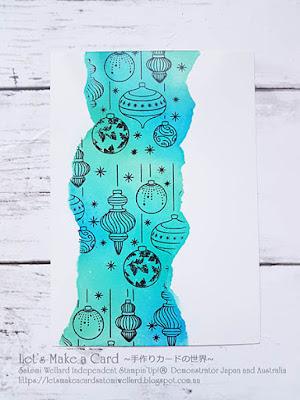 Totally Techniques International Design Team Blog Hop Faux Torn Edge   Satomi Wellard-Independent Stampin'Up! Demonstrator in Japan and Australia, #su, #stampinup, #cardmaking, #papercrafting, #rubberstamping, #stampinuponlineorder, #craftonlinestore,  #greetingcards  #christmascard #beautifulbauble   #スタンピン #スタンピンアップ #スタンピンアップ公認デモンストレーター #ウェラード里美 #手作りカード #スタンプ #カードメーキング #ペーパークラフト #スクラップブッキング #ハンドメイド #オンラインクラス #スタンピンアップオンラインオーダー #スタンピンアップオンラインショップ #動画 #フェイスブックライブワークショップ #トータリーテクニックデザインチームブログホップ #ビューティフルボーブル #クリスマスカード