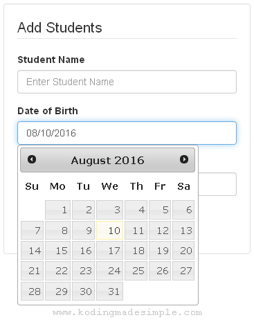 add-jquery-datepicker-in-codeigniter-example