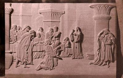 Talla en relieve de Manuel Tobella de la Santa Cena