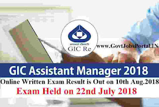 GIC EXAM RESULT 2018