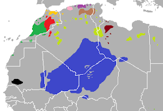 Areas in North Africa where Berber languages are spoken