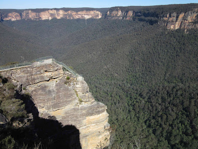 Pulpit Rock y valle Grose. Blue Mountains. Sydney