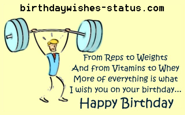 birthday wishes for bodybuilders